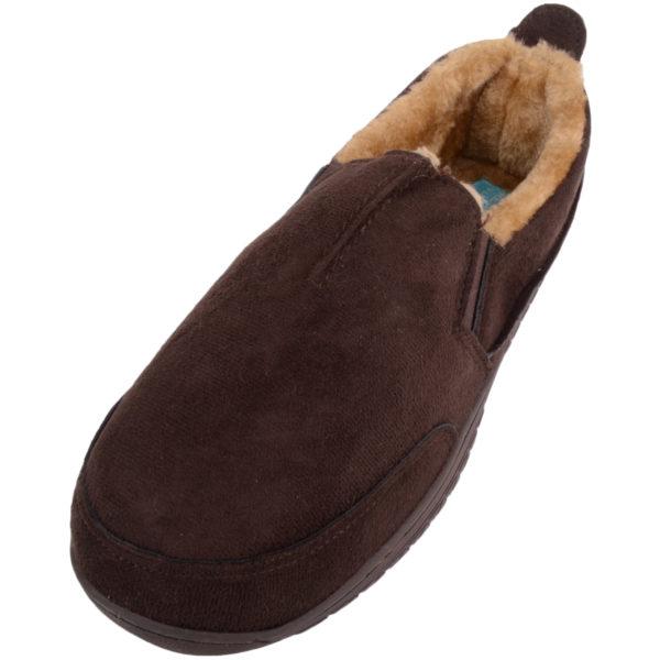Men's Slip On Slippers with Warm Faux Fur Inner