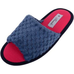 Women's Soft Fleece Open Toe Slippers