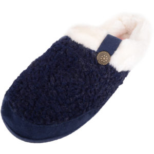 Women's Slip On Slippers / Mules with Faux Fur Inners