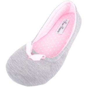 Women's Slip On Ballerina Style Slippers with Bow Design