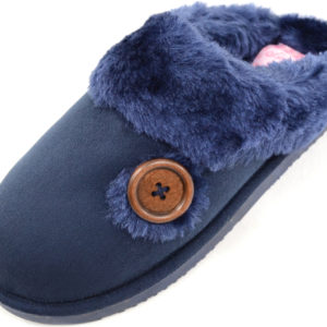 Women's Warm Slip On Slippers with Thick Faux Fur Inner