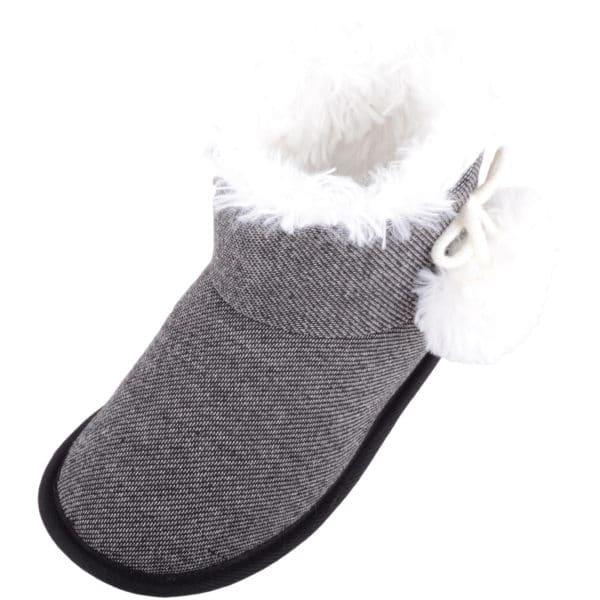 Women's Arabella Slip On Bootie Slipper - Black