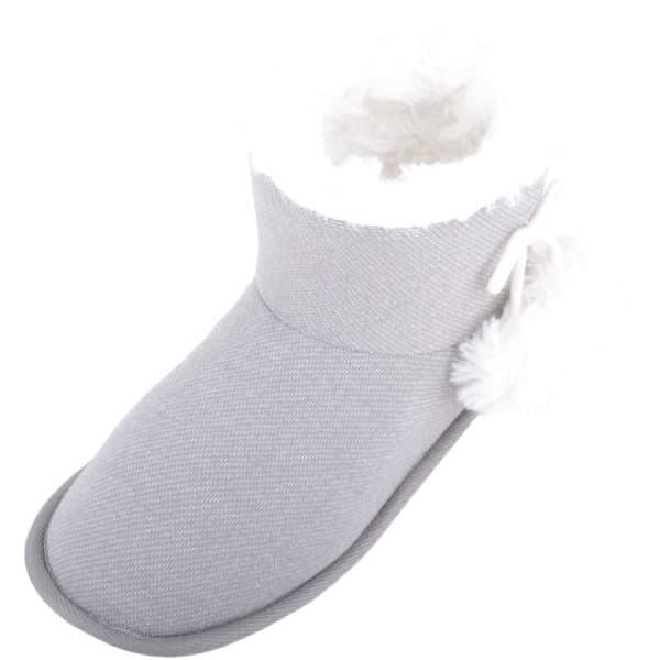 Women's Arabella Slip On Bootie Slipper - Grey