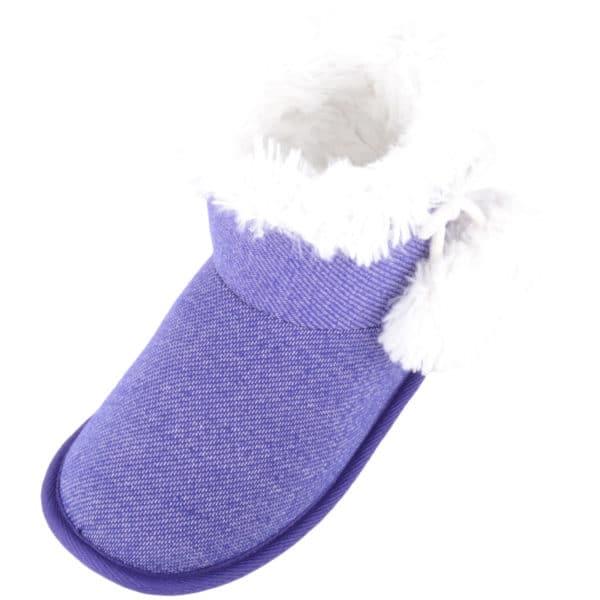 Women's Arabella Slip On Bootie Slipper - Purple